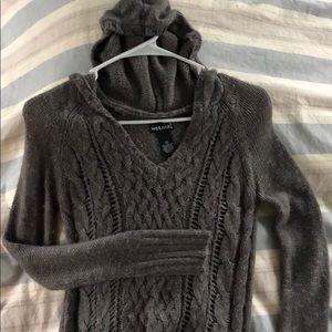 Sweater top with hood